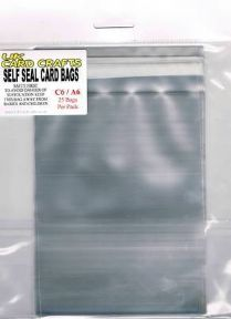 C6 Self seal card bags 25 pack = UKCC0007